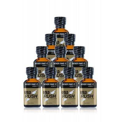 Lot 10 poppers Gold Rush - Grands Flacons 24 ml