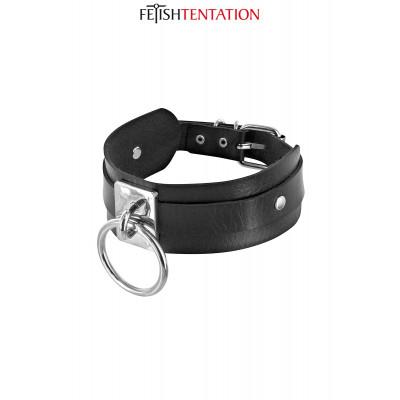 Collier BDSM avec anneau