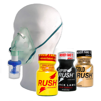 Pack High Energy - 3 poppers Rush + Inhalateur